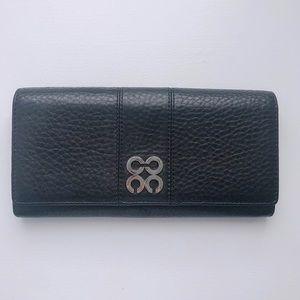 Coach Op Art Black Full Size Leather BiFold Wallet